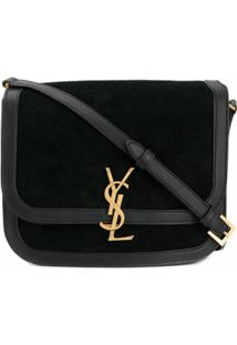 Saint Laurent Lock Medium Shoulder Bag - Preto