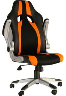 Cadeira Office Gamer Speed-Rivatti - Preto / Laranja