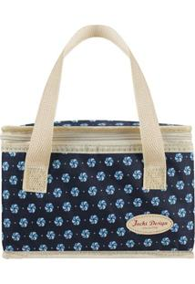 Bolsa Térmica- Azul Marinho Bege- 22X14X14Cm- Jacki Design