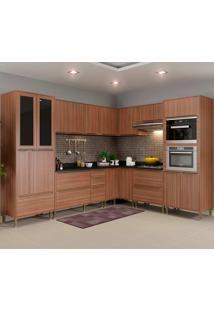 Cozinha Compacta Com Tampo 10 Peças 5461Mf Calábria - Multimóveis - Nogueira