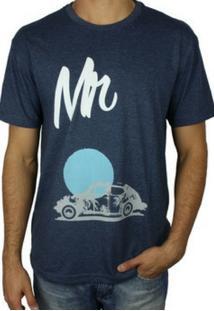 Camiseta Mr Green Beatles Fusca Estampada Azul