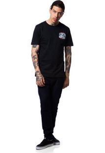 Camiseta Fallen Grunge - Masculino-Preto