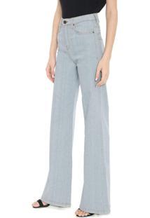 Calça Jeans Calvin Klein Jeans Pantalona Pespontos Azul