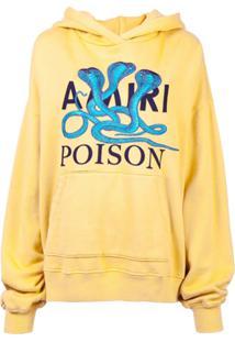 Amiri Blusa De Moletom Com Patch De Logo - Amarelo