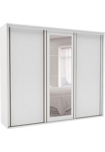 Guarda-Roupa Casal Inovatto Ii Com Espelho 3 Pt 6 Gv Branco