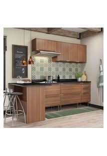 Cozinha Modulada Multimóveis 5455 Calábria 6 Peças Nogueira