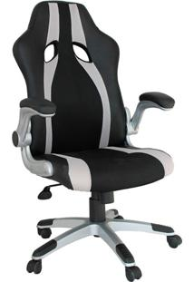Cadeira Office Gamer Speed-Rivatti - Preto / Prata