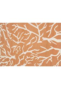 Dhurie Design Galhos Orange/White
