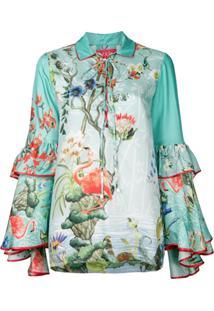 F.R.S For Restless Sleepers Camisa Polo Floral De Seda - Verde