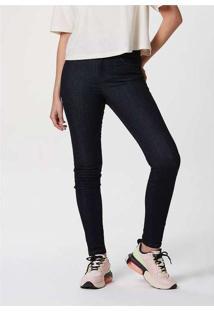 Calça Feminina Jeans Cigarrete Soft Touch Azul-Esc