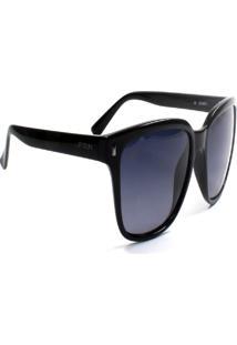 Óculos De Sol Jf Sun Pathy-Preto Brilho-Fumê - Kanui