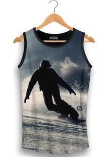 Regata Dep Homem Esquiando Azul