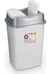 Lixeira Para Cozinha Banheiro Plã¡Stico Capacidade 14 Litros - Transparente - Dafiti