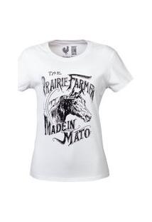 Tshirt Estampada Made In Mato Farmer Branca Branco