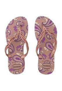 Chinelo Havaianas Flash Sweet Royal Rosa
