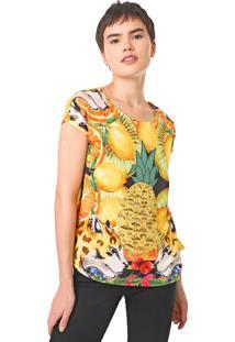 Camiseta Desigual Exeter Amarela - Amarelo - Feminino - Algodã£O - Dafiti