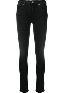 Love Moschino Mid-Rise Skinny Jeans - Preto