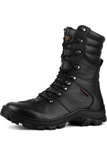 Bota Militar Fran Boots Cano Longo Preto