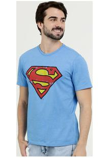 Camiseta Masculina Estampa Super Homem Liga Da Justiça