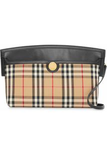 Burberry Clutch Xadrez Vintage Society - Neutro