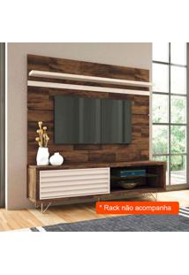 Painel Para Tv 70 Polegadas Venezza Deck E Off White 180 Cm
