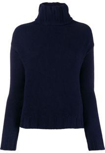 Aragona Turtleneck Knit Jumper - Azul