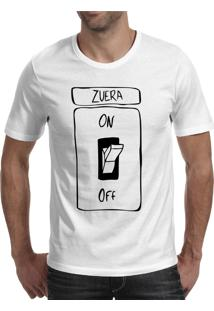 Camiseta Hunter Zoeira Modo On Branca