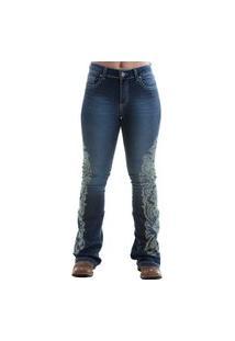 Calça West Dust Wings Vanessa Bootcut Jeans Escuro