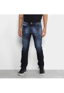 Calça Jeans Rock Blue Moletom Indigo - Masculino-Azul Escuro