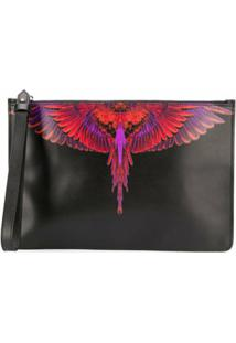 Marcelo Burlon County Of Milan Clutch Wings Retangular - Preto