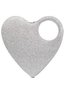 Coperni Clutch Heart Swipe - Prateado