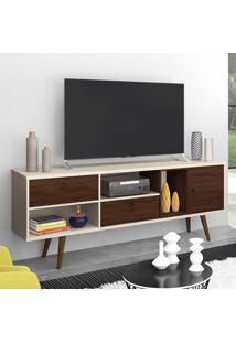 Rack Para Tv Até 70 Polegadas 3 Portas Tóquio Off White/Capuccino - Móveis Germai