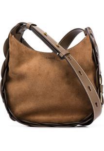 Chloé Woven Shoulder Bag - Marrom