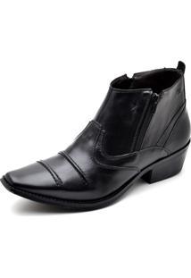 Bota Top Franca Shoes Casual Country 608 Preto