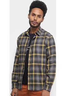 Camisa Ellus Wire Wool Manga Longa Xadrez Masculina - Masculino