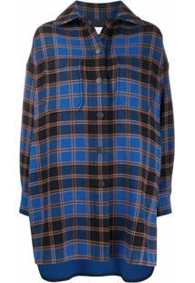 See By Chloé Camisa Oversized Xadrez - Azul
