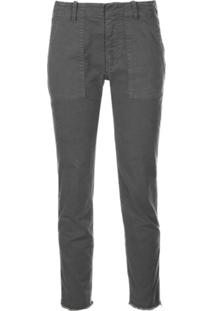 Nili Lotan Regular Slim-Fit Trousers - Cinza