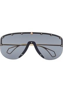 Gucci Eyewear Óculos De Sol Máscara - Cinza