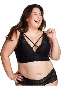 Sutiã Feminino Strappy Renda Plus Size Marisa
