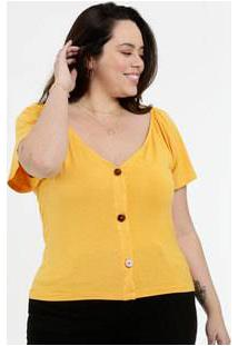 Blusa Feminina Botonê Plus Size Marisa