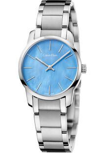Relógio Calvin Klein Feminino Em Aço Prateada