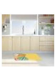 Tapete De Cozinha Mdecore Frutas Amarelo 40X60Cm