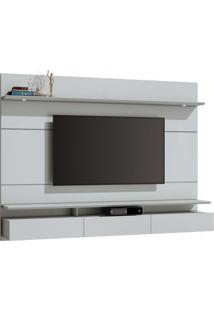 Painel Para Tv 60 Polegadas Decore Led I 3 Gv Branco Acetinado