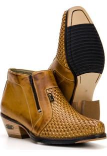 Bota Trisse Country Capelli Boots Em Couro Cano Curto Com Zíper Masculina - Masculino