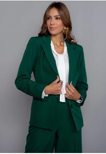 Blazer Ellen Brook Em Alfaiataria - Eb-10126-Verde - Verde - Feminino - Dafiti
