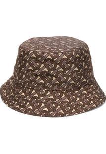 Burberry Chapéu Bucket Com Estampa Monogramada - Marrom