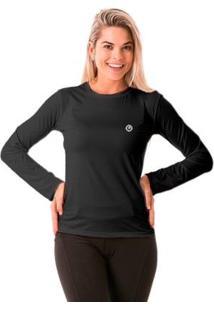 Camisa Térmica Para Frio Manga Longa Com Proteção Solar Extreme Uv - Feminino-Chumbo