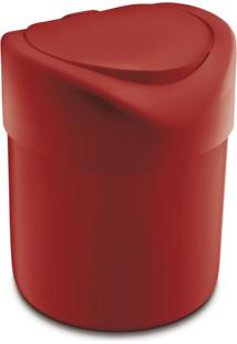 Lixeira Premium Vermelha 4 L
