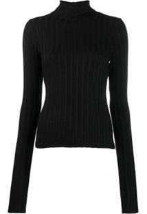 Simon Miller Long-Sleeve Fitted Sweater - Preto