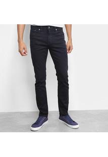 Calça Jeans Slim Calvin Klein Color Five Pockets Masculina - Masculino-Marinho